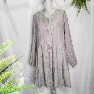Flax 100% Linen Women's Tunic Oversized Small